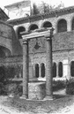 ROME: Well of 6th Century, Cloister St John, print, 1872